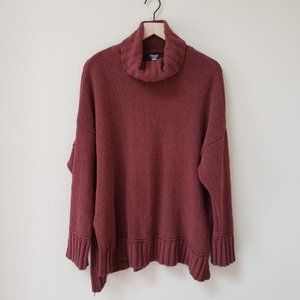 Aerie - Dark Red  Oversized Chenile Sweater